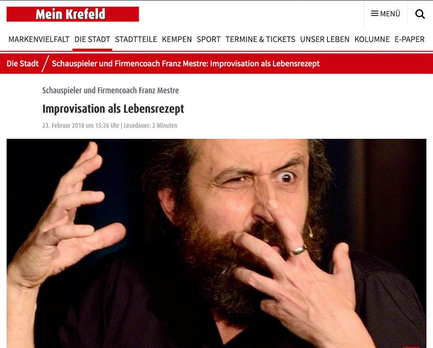 Mein Krefeld Improvisation Schauspiel Business Coach Franz Mestre